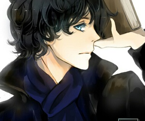 blue eyes, sherlock and john, and cute boy image