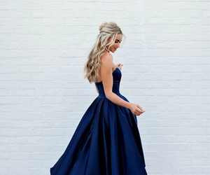 dress, style, and blue image