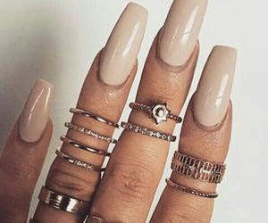 nails, beautiful, and rings image
