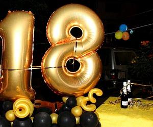 birthday, black, and eighteen image