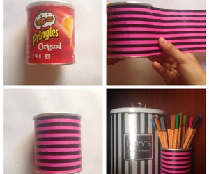 diy, organisation, and pringles image