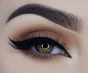 makeup, eyes, and eyeliner image