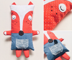 fox, handmade, and plush image