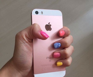 colour, iphone, and summernails image
