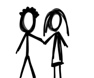 couple, figures, and cute image