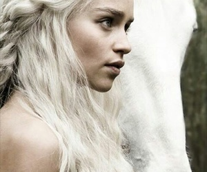 game of thrones, white, and horse image