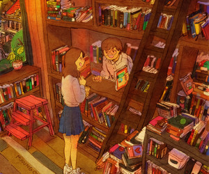 anime, art, and book image