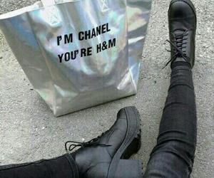 chanel, grunge, and black image