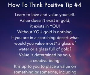 positive thinking, self love, and value image