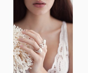girl, jewelry, and rings image