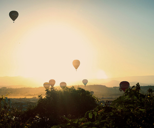 balloons, sun, and nature image