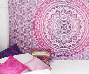 boho, mandala, and pink image