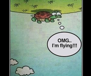 optimism, turtle, and quotes image