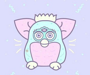 pastel, creamy, and furby image