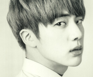 black and white, jin, and kim image