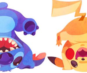 stitch, pikachu, and pokemon image