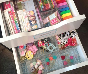 organization, paper clips, and planners image