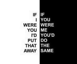 band, black and white, and lyric image
