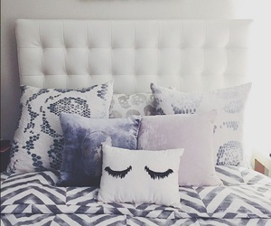 bedroom, bed, and pillow image