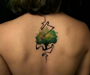 art, tatto, and tree image
