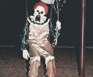 carousel, clown, and creepy image