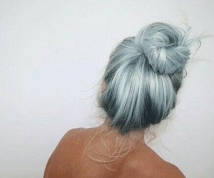 hair and light blue image