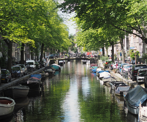 amsterdam, canals, and holland image