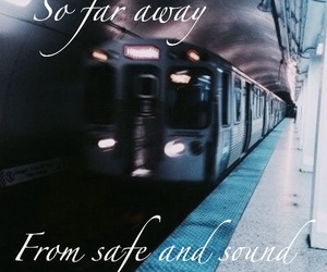 blurry, grunge, and train image