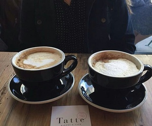 cappuccino, cup, and drink image
