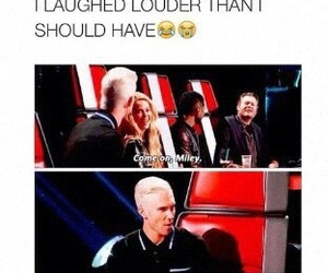 funny, the voice, and adam levine image