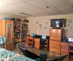 university, college, and dorm image