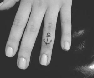 tattoo, anchor, and fingers image