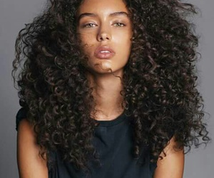 beautiful, curly hair, and model image