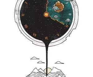 time, art, and clock image