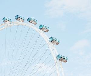 blue, aesthetic, and ferris wheel image