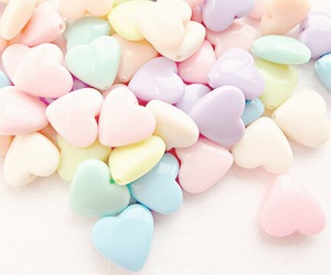 pastel, hearts, and sweet image