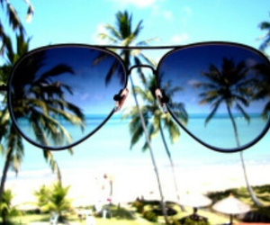 beach, sun, and lunettes image