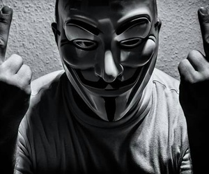 anonymous, mask, and peace image