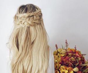 fashion, trenza, and hair image
