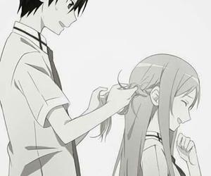 asuna, kirito, and anime image
