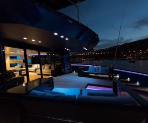 yacht, luxury, and night image
