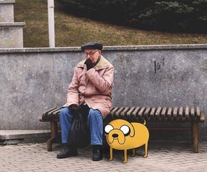 real life, jake the dog, and adventure time image