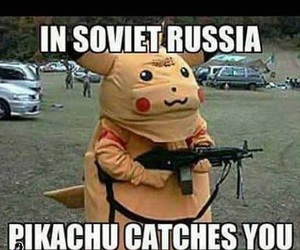 funny, pikachu, and russia image