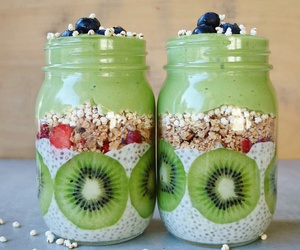 food, healthy, and kiwi image