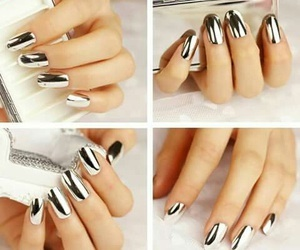 nails, art, and silver image