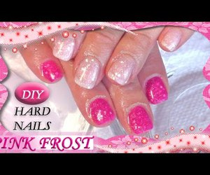 nails, pink, and video image