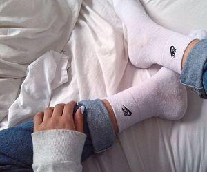 nike, socks, and fashion image