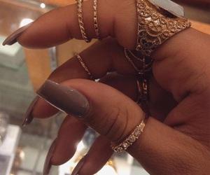 beauty, nails, and baddie image