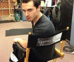 the vampire diaries, michael malarkey, and blood image