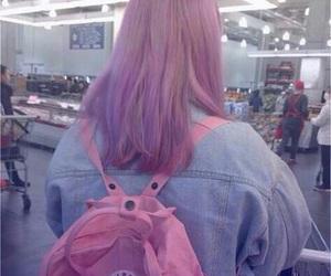 pink, hair, and girl image